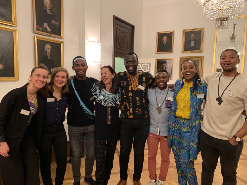 Pictured from left to right: Tina Kuttler (Programme Assistant), Christina Sturm (Programme Assistant), Lukhanyo Velelo, Barbara Owen (Programme Director), Willie Macharia, Boutros Mbina, Kudzai Ngwara and Lerato Mokhethi
