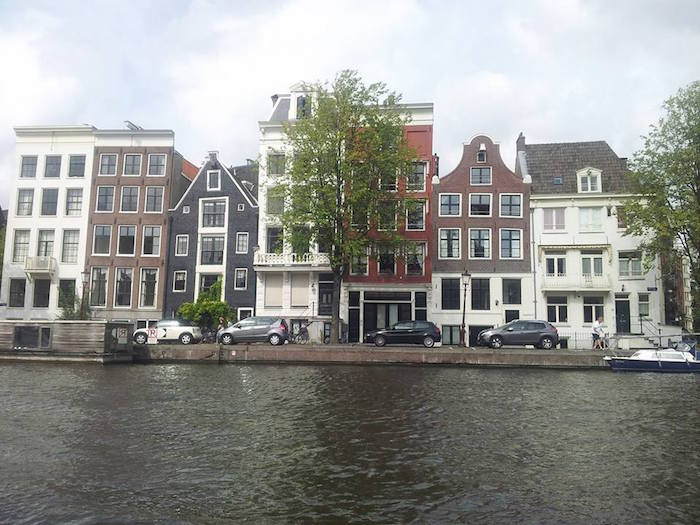 A typical street in Amsterdam
