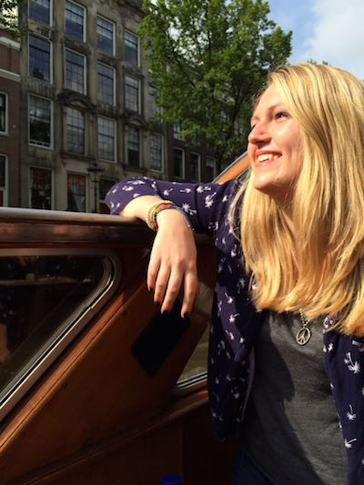 Annabel Fenton on canals in Amsterdam