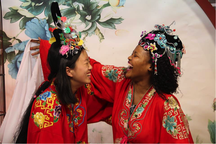 Alice Fong and Sihle Nontshokweni at Sichuan Opera